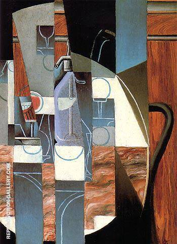 Reproduction of The Siphon 1913 by Juan Gris | Oil Painting Replica On CanvasReproduction Gallery