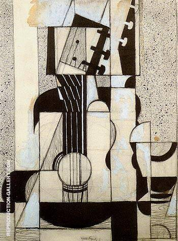 Still Life with Guitar c1912 By Juan Gris - Oil Paintings & Art Reproductions - Reproduction Gallery