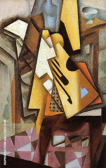 Guitar on a Chair 1913 By Juan Gris Replica Paintings on Canvas - Reproduction Gallery