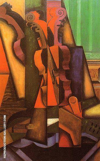 Violin and Guitar 1913 By Juan Gris - Oil Paintings & Art Reproductions - Reproduction Gallery