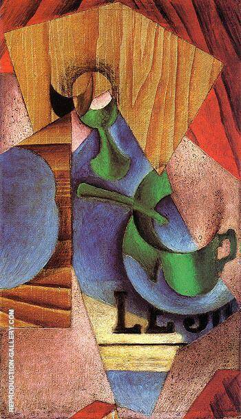 Glass Cup and Newspaper 1913 By Juan Gris