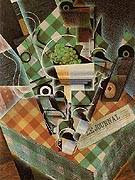 Still Life with Checkered Table Cloth 1915 By Juan Gris