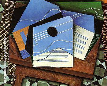 Guitar on the Table 1915 By Juan Gris