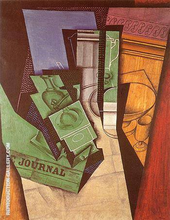 Reproduction of Breakfast 1915 by Juan Gris | Oil Painting Replica On CanvasReproduction Gallery