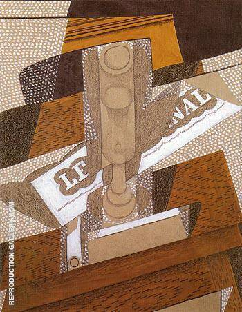 The Pipe 1916 By Juan Gris Replica Paintings on Canvas - Reproduction Gallery