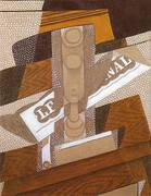 The Pipe 1916 By Juan Gris