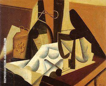 Still Life with White Tablecloth 1916 Painting By Juan Gris