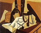 Still Life with White Tablecloth 1916 By Juan Gris
