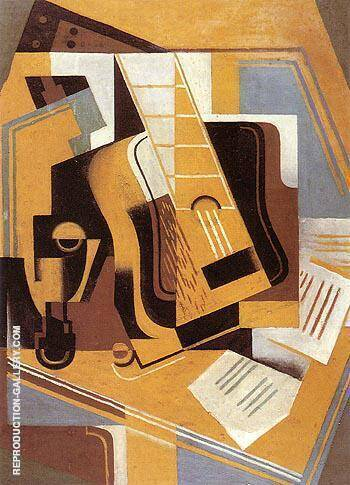 The Guitar 1918 By Juan Gris - Oil Paintings & Art Reproductions - Reproduction Gallery