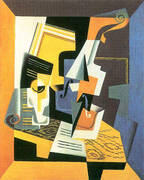Violin and Glass 1918 By Juan Gris