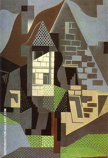 Houses in Beaulieu By Juan Gris - Oil Paintings & Art Reproductions - Reproduction Gallery