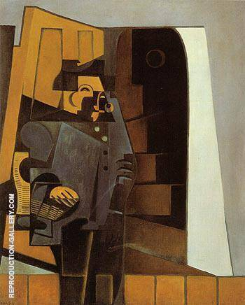The Peasant in Blue Smock The Miller 1918 Painting By Juan Gris