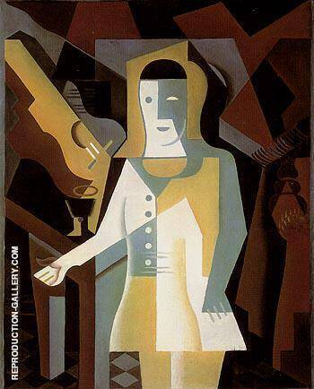 Pierrot 1919 By Juan Gris - Oil Paintings & Art Reproductions - Reproduction Gallery