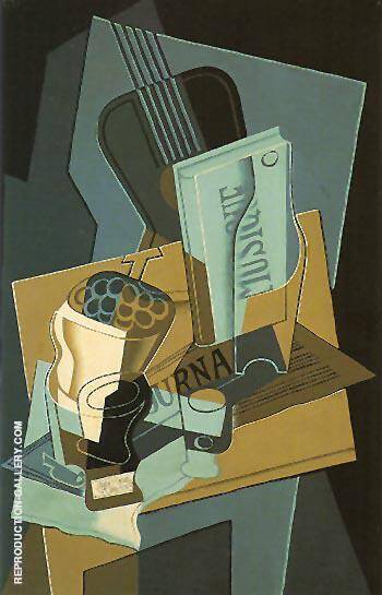 The Book of Music 1922 Painting By Juan Gris - Reproduction Gallery