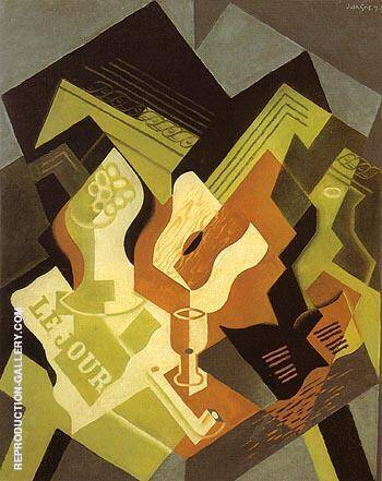 Reproduction of Guitar and Fruit Dish 1919 by Juan Gris | Oil Painting Replica On CanvasReproduction Gallery