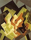Guitar and Fruit Dish 1919 By Juan Gris