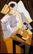 Pierrot 1921 By Juan Gris