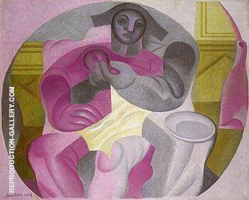 Seated Harlequin 1923 By Juan Gris Replica Paintings on Canvas - Reproduction Gallery