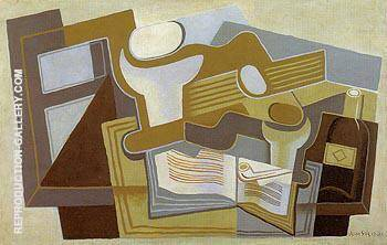Guitar and Fruit Fish 1921 By Juan Gris
