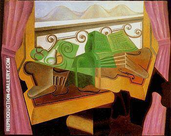 Open Window with Hills 1923 By Juan Gris