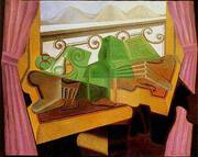 Open Window with Hills 1923 By Juan Gris