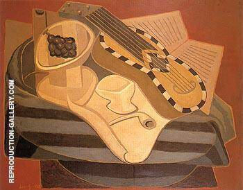 The Guitar with Inlay 1925 By Juan Gris
