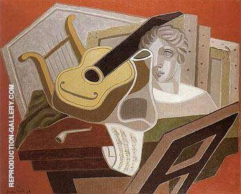 Musicians Table 1926 By Juan Gris - Oil Paintings & Art Reproductions - Reproduction Gallery
