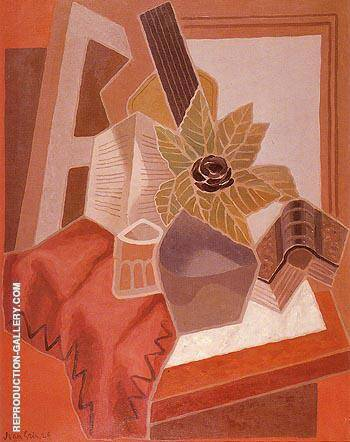 The Flower on the Table 1925 By Juan Gris - Oil Paintings & Art Reproductions - Reproduction Gallery