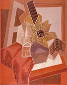 The Flower on the Table 1925 By Juan Gris