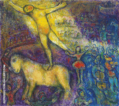 At the Circus By Marc Chagall Replica Paintings on Canvas - Reproduction Gallery