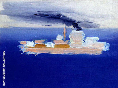 Reproduction of Marine 1954 by Nicolas De Stael | Oil Painting Replica On CanvasReproduction Gallery