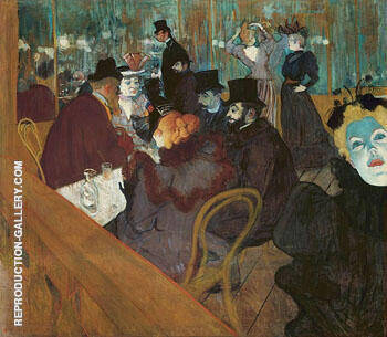 At the Moulin Rouge c1892 By Henri De Toulouse-lautrec Replica Paintings on Canvas - Reproduction Gallery