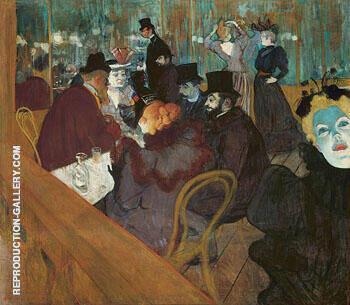 At the Moulin Rouge c1892 By Henri De Toulouse-lautrec