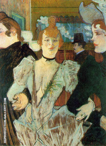 La Goulue Arriving at the Moulin Rouge with Two Woman 1892 By Henri De Toulouse-lautrec