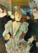 La Goulue Arriving at the Moulin Rouge with Two Woman 1892 By Henri De Toulouse-lautrec