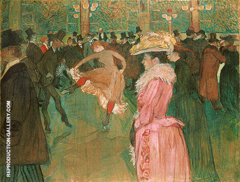 At the Moulin Rouge The Dance 1890 By Henri De Toulouse-lautrec