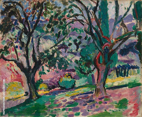 Promenade among the Olive Trees By Henri Matisse