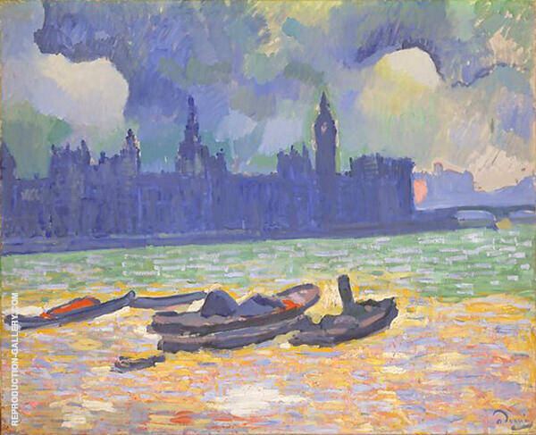 The Palace of Westminster 1906 Painting By Andre Derain