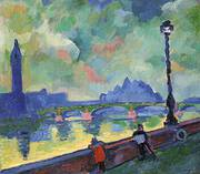 The Thames at Wesminster Bridge 1906 By Andre Derain