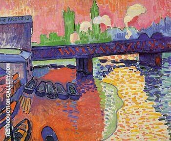Hungerford Bridge at Charing Cross 1906 By Andre Derain - Oil Paintings & Art Reproductions - Reproduction Gallery