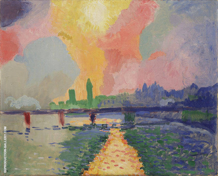 Hungerford Bridge at Charing Cross c1906 Painting By Andre Derain