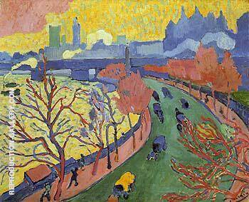 Victoria Embankment 1906 By Andre Derain