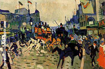 Regent Street 1906 By Andre Derain Replica Paintings on Canvas - Reproduction Gallery
