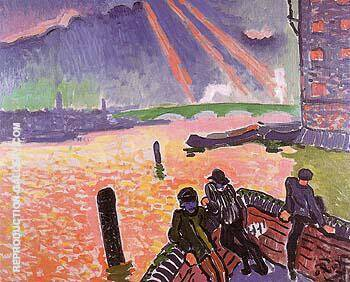 On the Banks of the Thames 1906 By Andre Derain