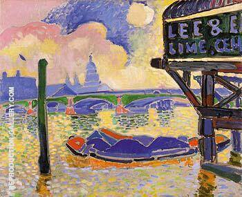 Reproduction of Blackfriars Bridge 1906 by Andre Derain | Oil Painting Replica On CanvasReproduction Gallery