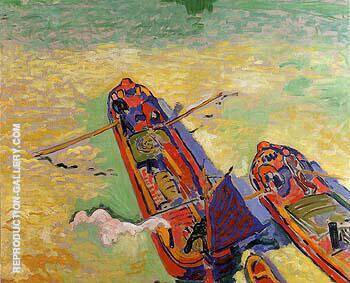 The Two Barges 1906 Painting By Andre Derain - Reproduction Gallery