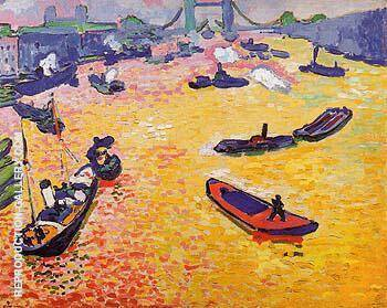 The Port of London 1906 By Andre Derain
