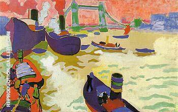 Boats on the Thames 1906 By Andre Derain