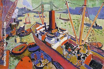 The Pool of London 1906 By Andre Derain