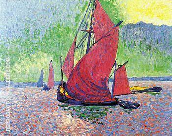 The Red Sails 1906 By Andre Derain